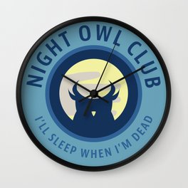 Night Owl Club Wall Clock