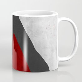 RED | Geometric Coffee Mug