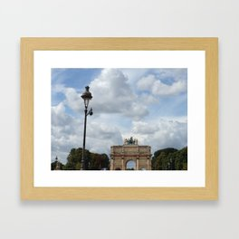 Arc du Carrousel Under the Sky Framed Art Print