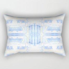 Car in the snow 4x4 Rectangular Pillow