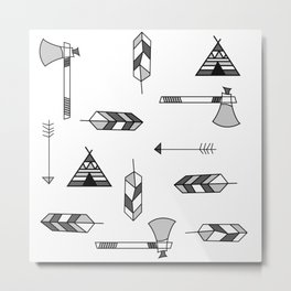 Pattern: Indian icon Metal Print