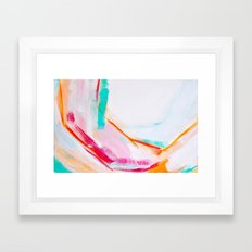 Pink and Orange Abstract Print Framed Art Print