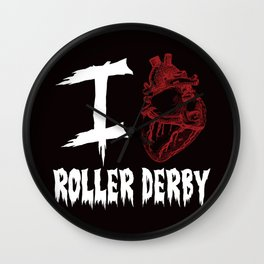 I Anatomically love Roller Derby  Wall Clock