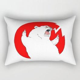 Borderline Bear Rectangular Pillow