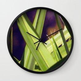 Palmetto Fronds Wall Clock