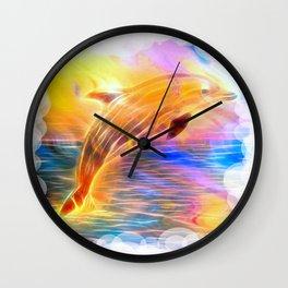Sunset Dolphin Wall Clock