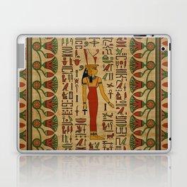 Egyptian Mut Ornament on papyrus Laptop & iPad Skin