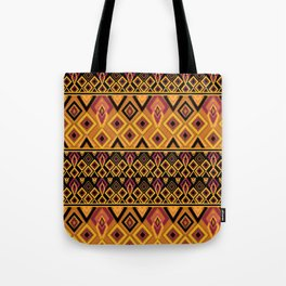 Yellow plaid. The creative pattern . Tote Bag