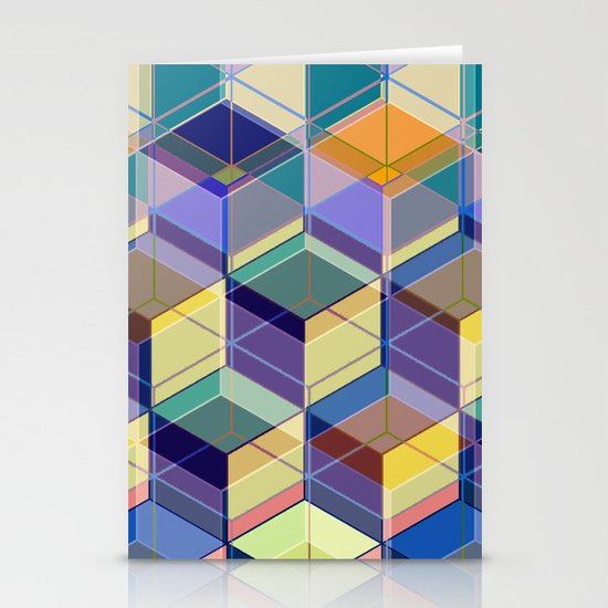Cube Geometric VIII Stationery Cards