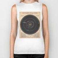 solar system Biker Tanks featuring Solar System by Le petit Archiviste
