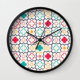 Cute Eastern Pattern Wall Clock