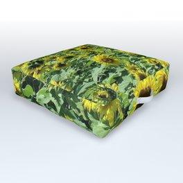Sunflowers all day, everywhere, all around by Jéanpaul Ferro Outdoor Floor Cushion