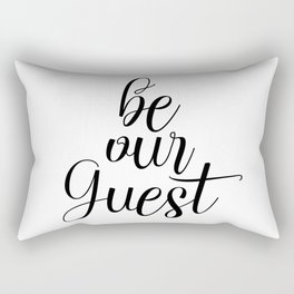 Be Our Guest, Guest Room Decor, Quote Printable, Entrance Wall Art Rectangular Pillow