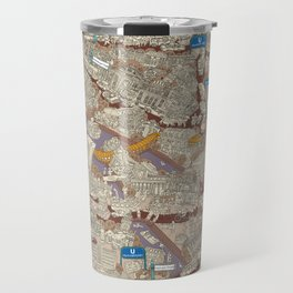 Illustrated map of Berlin-Mitte. Sepia Travel Mug