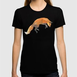 Low Poly Flying Red Fox T-shirt