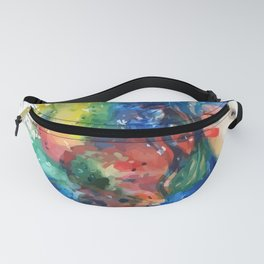Watercolor half face of woman Fanny Pack