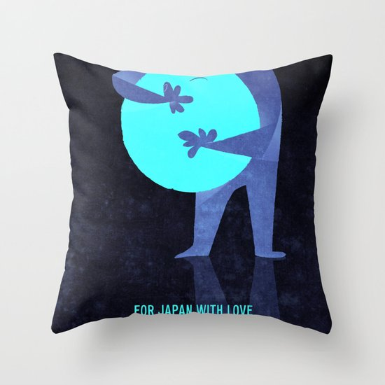 For Japan with love Throw Pillow