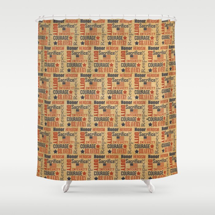 Army Honor Shower Curtain