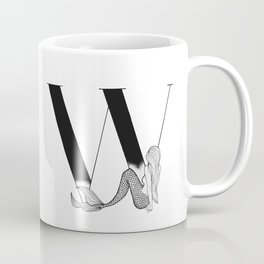 Mermaid Alphabet Series - W Coffee Mug