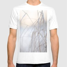 Beautiful Winter Morning MEDIUM Mens Fitted Tee White