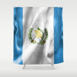 Guatemala Flag Shower Curtain