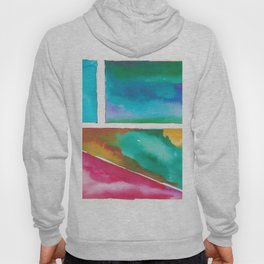 180811 Watercolor Block Swatches 11| Colorful Abstract |Geometrical Art Hoody