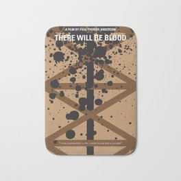 No358 My There Will Be Blood minimal movie poster Bath Mat