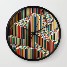 Stretched Pattern Wall Clock