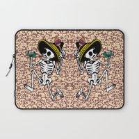 calavera Laptop Sleeves featuring DANCING CALAVERA  by Alberto Corradi