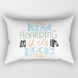 Hoarding Books Summer Colors Rectangular Pillow
