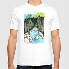Landscapes / Nr. 7 Mens Fitted Tee White MEDIUM