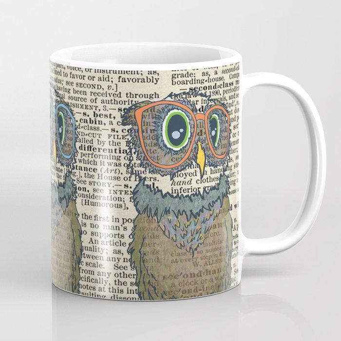 Owl wearing glasses Coffee Mug