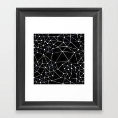 Seg Black Framed Art Print