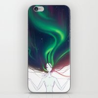 northern lights iPhone & iPod Skins featuring Northern lights by Tiphs