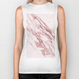 Deep rose pink marble Biker Tank