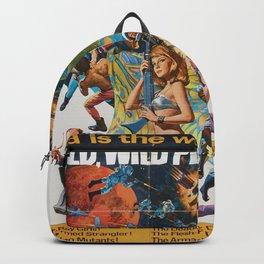 Wild Wild Planet 1965 Sci-Fi Precursor or Barbarella Queen Of The Galaxy Vintage Retro Movie Poster, Backpack