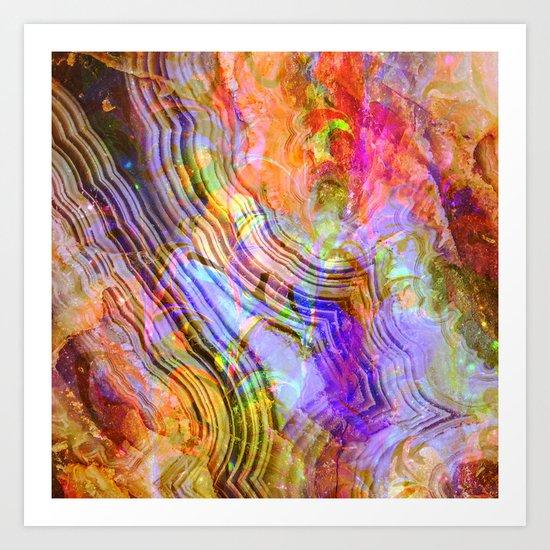 abstract crystal x Art Print