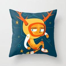 Space Deer Throw Pillow