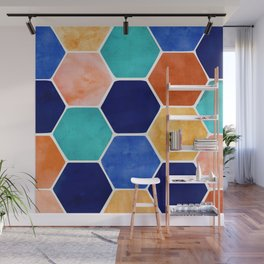 Painted Terra Cotta Wall Mural