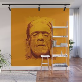 The creature - orange Wall Mural