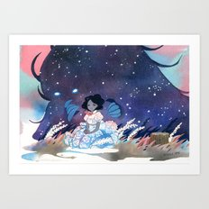 Miila and Sadmoor Art Print