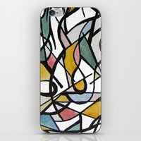 kandinsky iPhone & iPod Skins featuring Geometric Abstract Watercolor Ink by Ashley Grebe