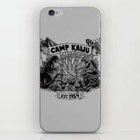 kaiju iPhone & iPod Skins featuring Camp Kaiju by Austin James