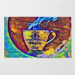 Bayou Tea Logo Rug