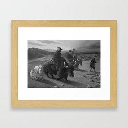 The migrants Framed Art Print