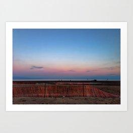 Beach in Twilight I Art Print