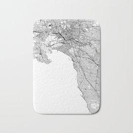 Melbourne White Map Bath Mat