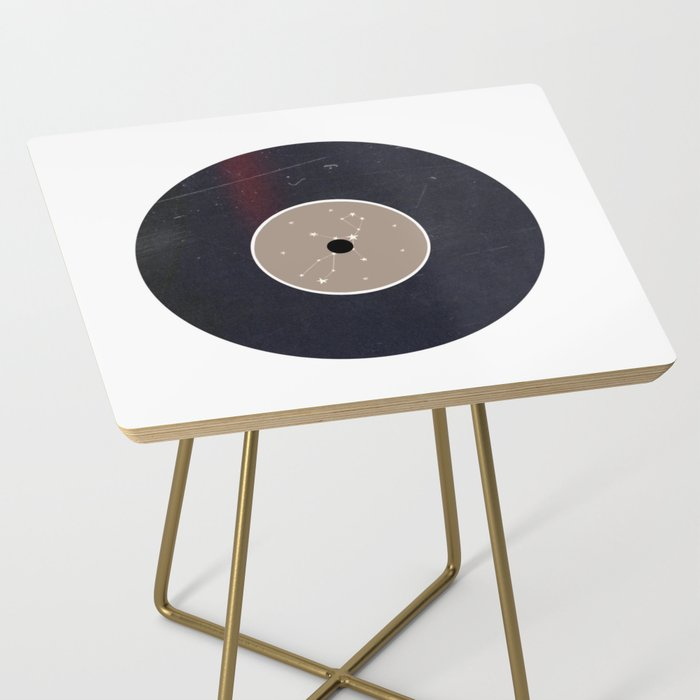 Vinyl Record Star Sign Art | Virgo Side Table