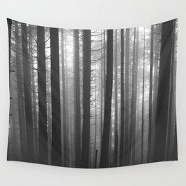 Into the Mist - BW Wall Tapestry