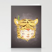 hiccup Stationery Cards featuring DRUNKEN TIGAAAAR by PAUL PiERROt